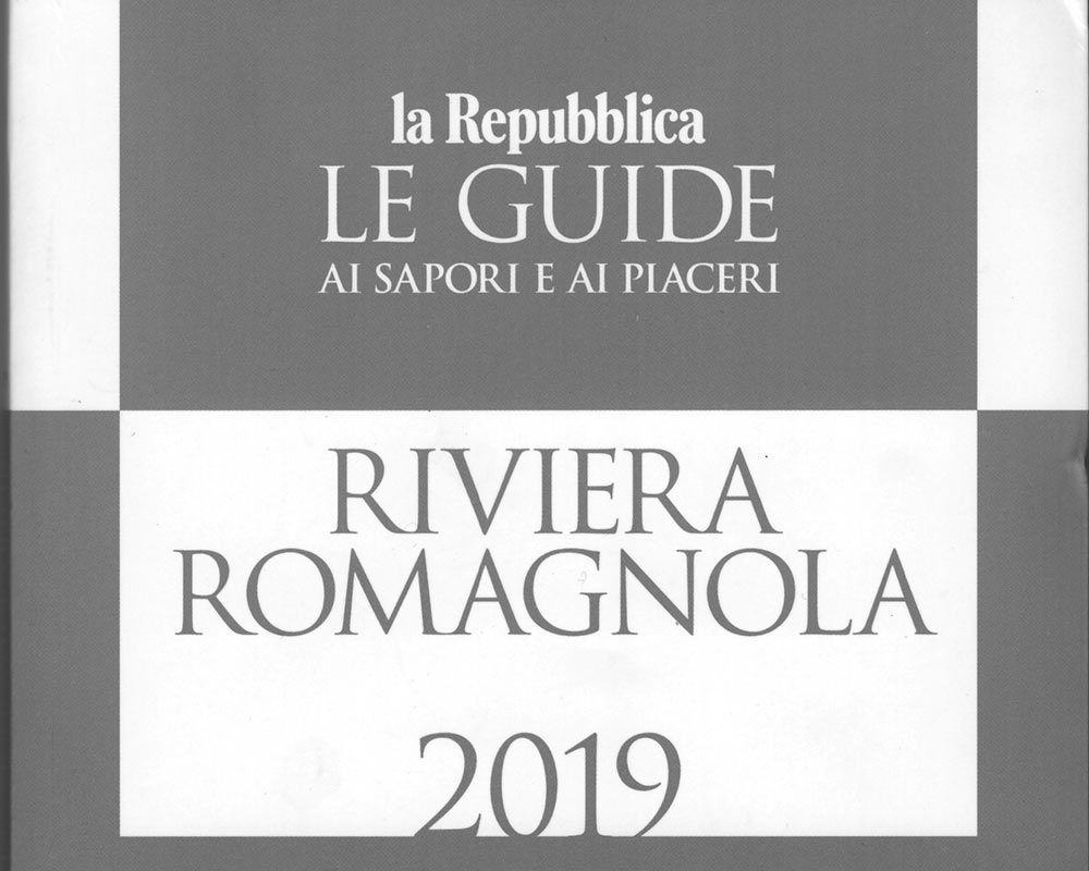 La Repubblica, Le Guide ai Sapori e ai Piaceri, Riviera Romagnola 2019